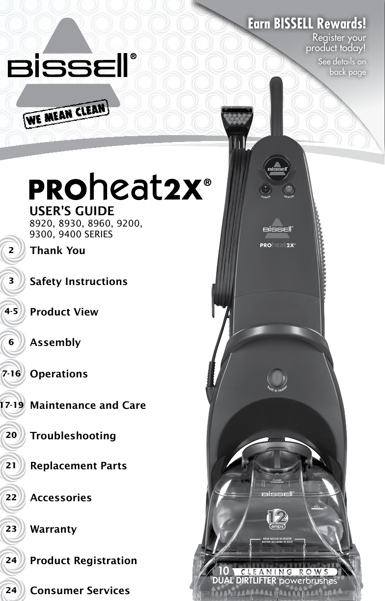 bissell proheat 2x instruction manual