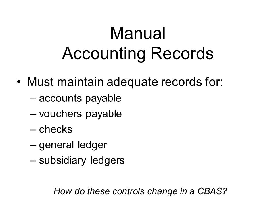 how to do bookkeeping manually